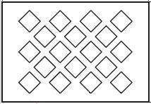 grilles perforées trame quinconce